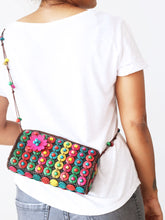 Load image into Gallery viewer, DaisyLife natural coconut shell multicolor fashion sling bag on model