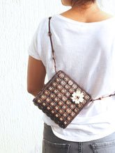 Load image into Gallery viewer, DaisyLife natural coconut shell brown fashion sling bag on model