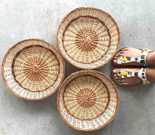 "Load image into Gallery viewer, ""Simple Round"" Wicker Basket"