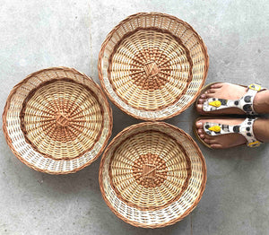 """Simple Round"" Wicker Basket"