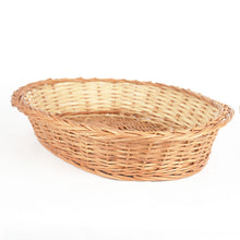 "Load image into Gallery viewer, ""Elegant Oval"" Natural Wicker Tray Basket"