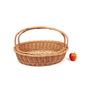 DAISYLIFE Natural Color and Eco-friendly Wicker Gifting and Multi-utility Basket with handle.