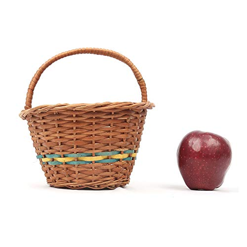 DAISYLIFE Natural Wicker Flower Basket with handle  for storage and display