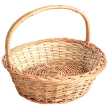 "Load image into Gallery viewer, ""Classic Round"" Natural Wicker Gift Basket"