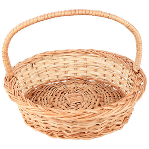 """Classic Round"" Natural Wicker Gift Basket"