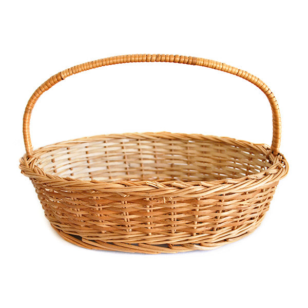 Elegant Oval Natural Wicker Gift Basket Set Of 3 Sizes Compact Set Daisylife