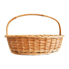 "Load image into Gallery viewer, ""Elegant Oval"" Natural Wicker Gift Basket (set of 3 sizes, Compact set)"