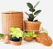 Load image into Gallery viewer, Set of 7 pcs- Laundry basket, Planter, Moon basket, Roti basket, Duck basket, Flower basket, Deep dish oval basket