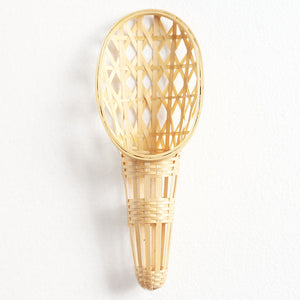 Natural bamboo wallflower vase front view