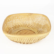 Load image into Gallery viewer, Natural 7 inch square bamboo basket top view