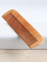 Load image into Gallery viewer, Natural beech wood comb combo of big and small