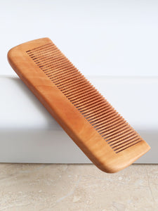 Natural beech wood comb combo of big and small
