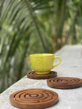 Load image into Gallery viewer, Set of 2 wooden game coasters