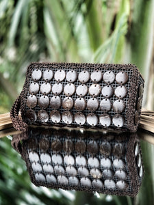 """Classic Coco"" Natural coconut shell clutch"