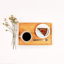 Load image into Gallery viewer, DAISYLIFE Natural and Eco-Friendly Bamboo Tea/ Coffee / Snacks / Food Serving Tray for guests or everyday use