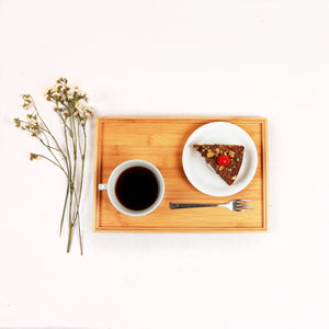 DAISYLIFE Natural and Eco-Friendly Bamboo Tea/ Coffee / Snacks / Food Serving Tray for guests or everyday use