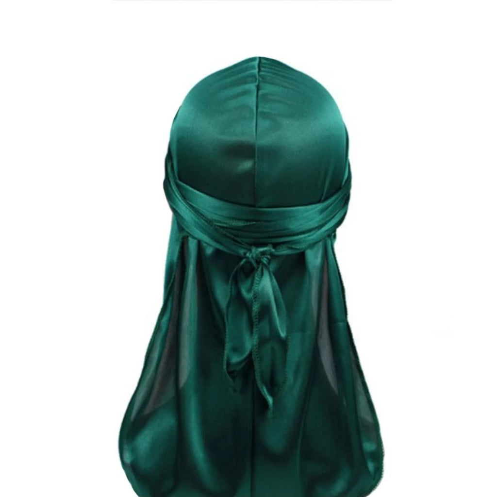 Silk Durag (Forest Green)-duragsbyday-Durags by Day