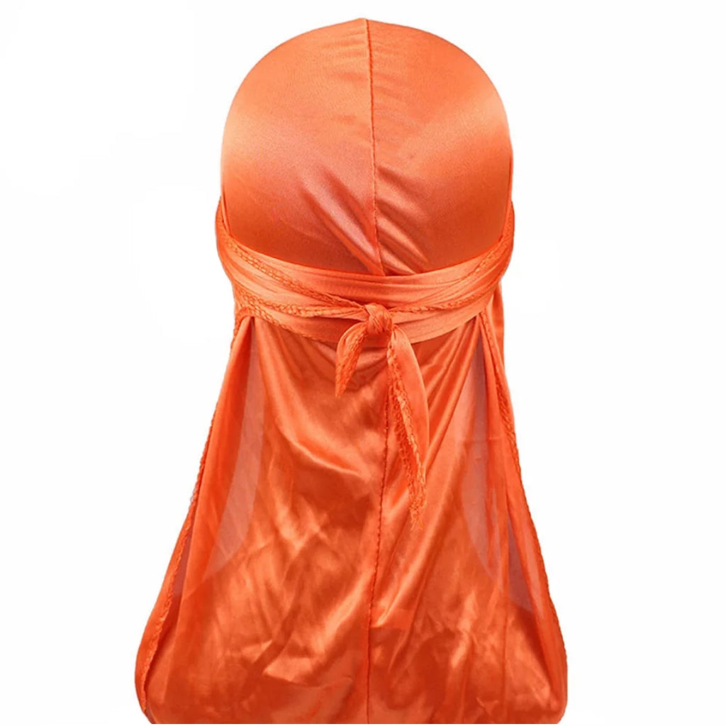 Silk Durag (Orange)-duragsbyday-Durags by Day
