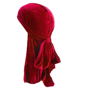 Velvet Durag (Red)-duragsbyday-Durags by Day
