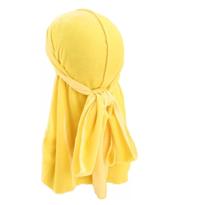 Velvet Durag (Yellow)-duragsbyday-Durags by Day