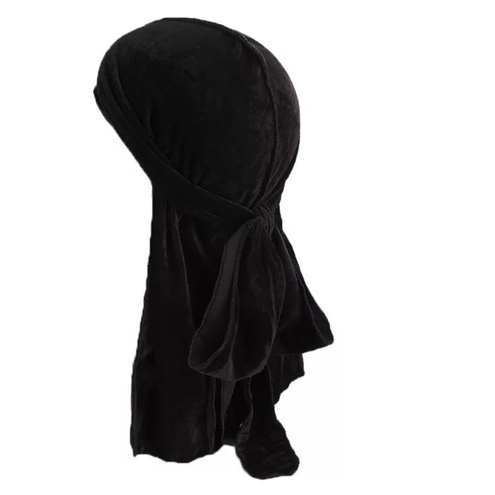 Velvet Durag (Black)-duragsbyday-Durags by Day