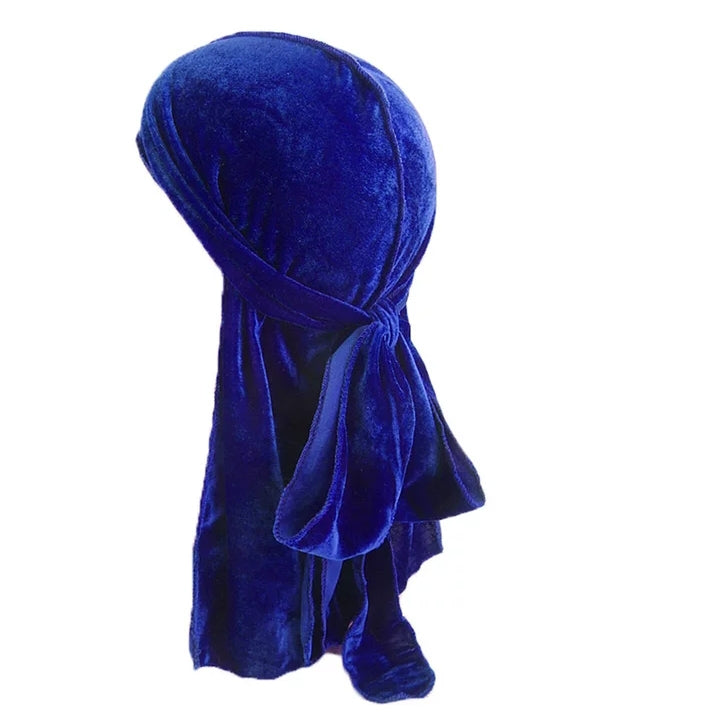 Velvet Durag (Blue)-duragsbyday-Durags by Day