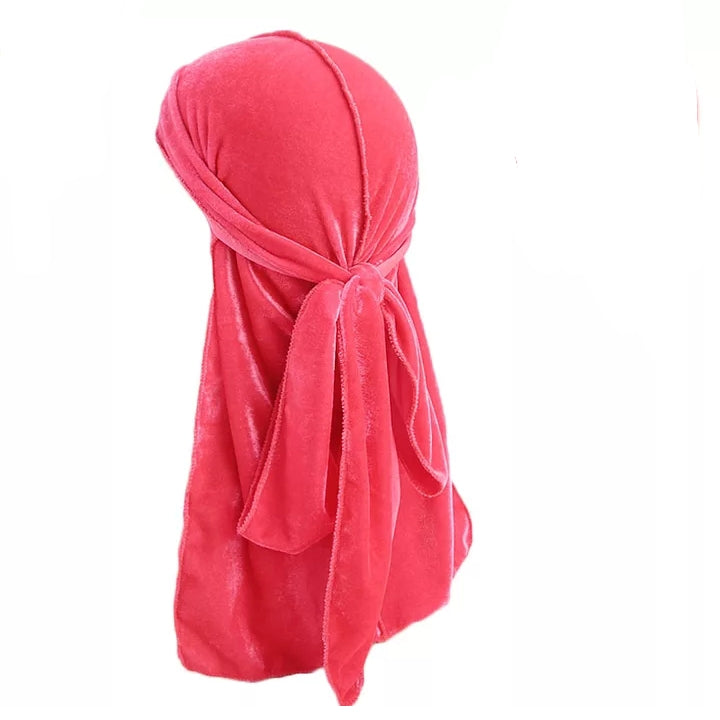 Velvet Durag (Pink)-duragsbyday-Durags by Day
