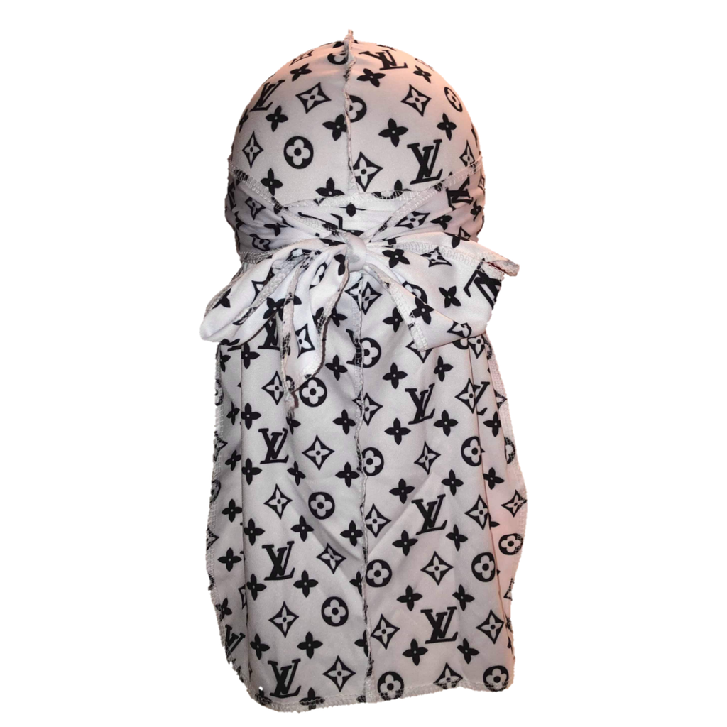 Louis Vuitton Durag (White)-duragsbyday-Durags by Day