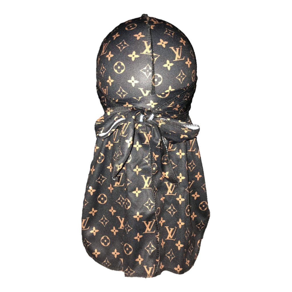 Louis Vuitton Durag (Black & Gold)-duragsbyday-Durags by Day