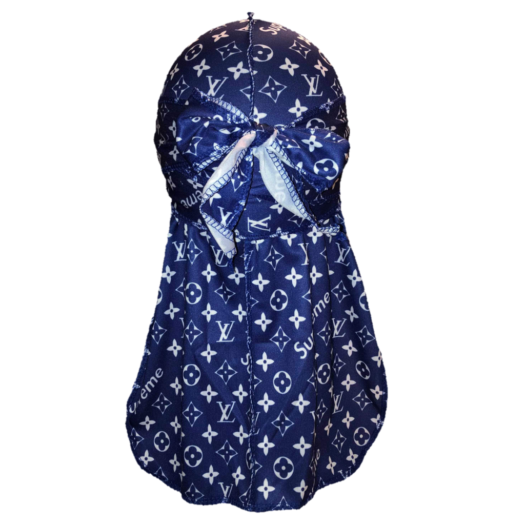 Louis Vuitton x Supreme Durag (Blue)-duragsbyday-Durags by Day