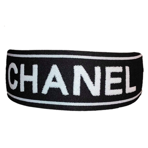Chanel Designer Headband (Black & White)-duragsbyday-Durags by Day