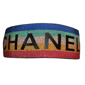 Chanel Designer Headband (Multi)-duragsbyday-Durags by Day