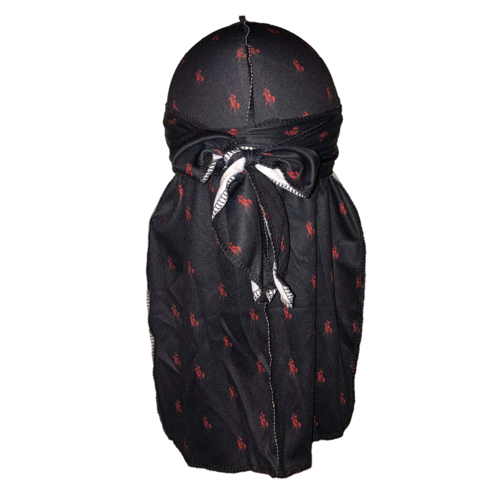 Polo Ralph Lauren (Black & Red)-duragsbyday-Durags by Day