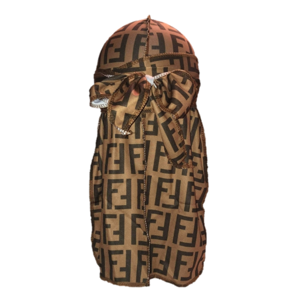 Fendi Durag (Brown)-duragsbyday-Durags by Day