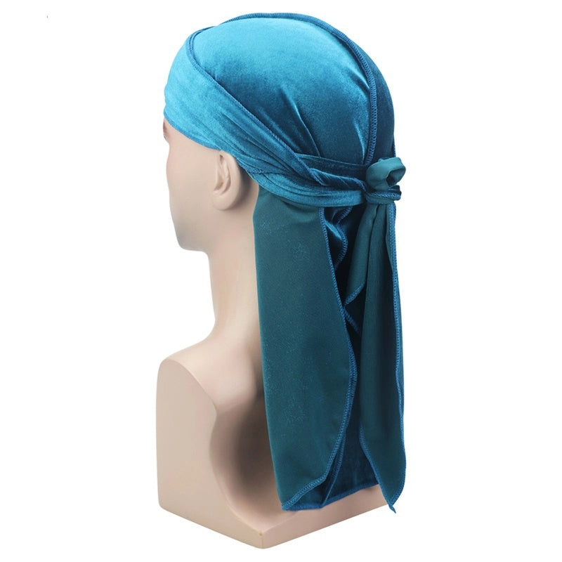 Velvet Durag (Light Blue)