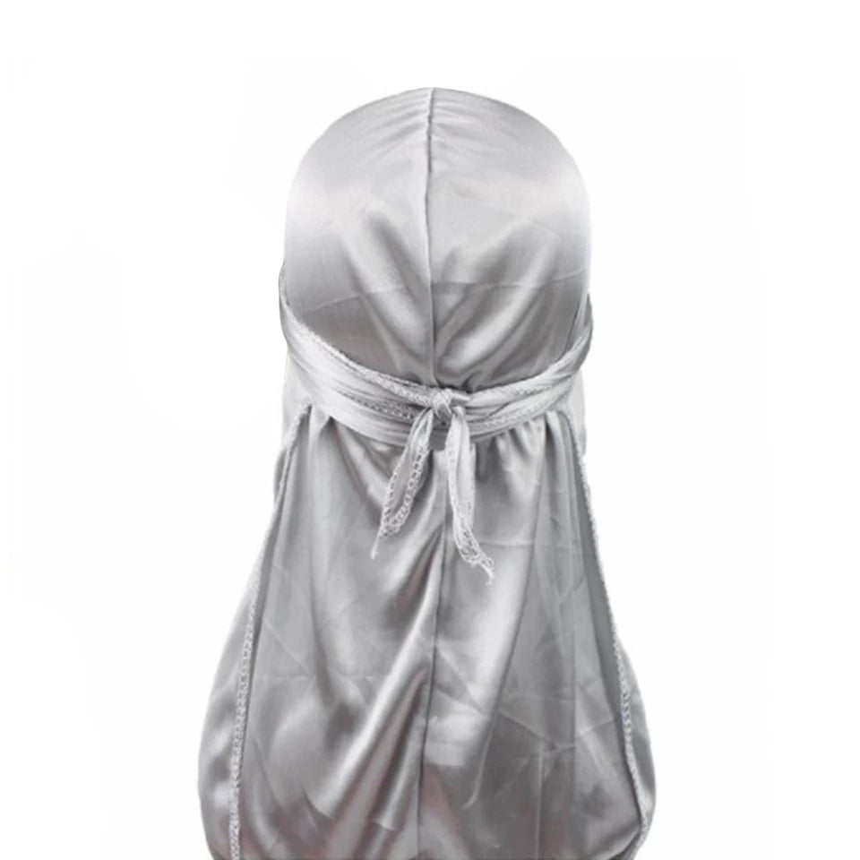 Silk Durag (Silver)-duragsbyday-Durags by Day