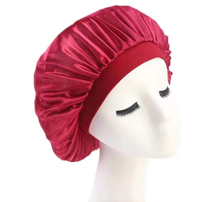 Silk Bonnet (Burgundy)