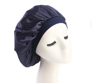Silk Bonnet (Navy Blue)