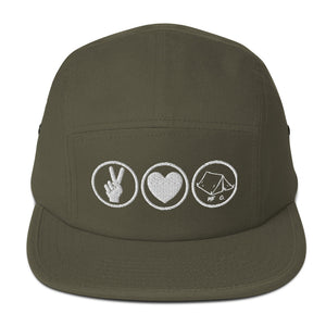 PEACE.LOVE.CAMP Five Panel Camper