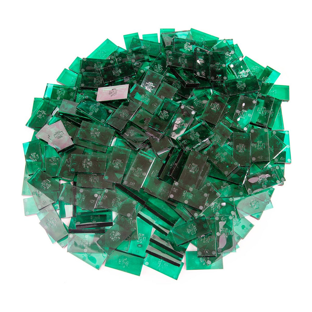 Bulk Dominoes - Clear Jade