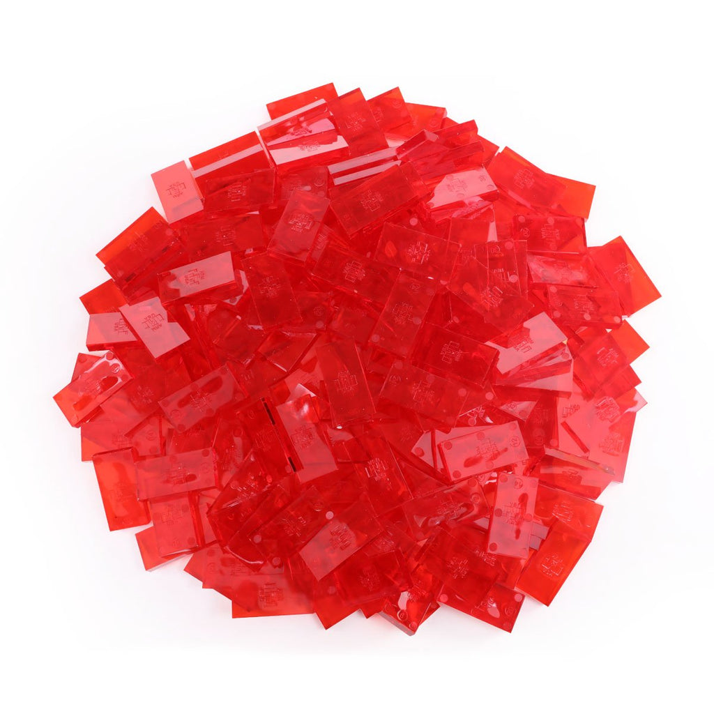Bulk Dominoes - Clear Red