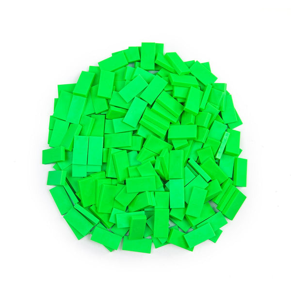 Bulk Dominoes - Mini Neon Green