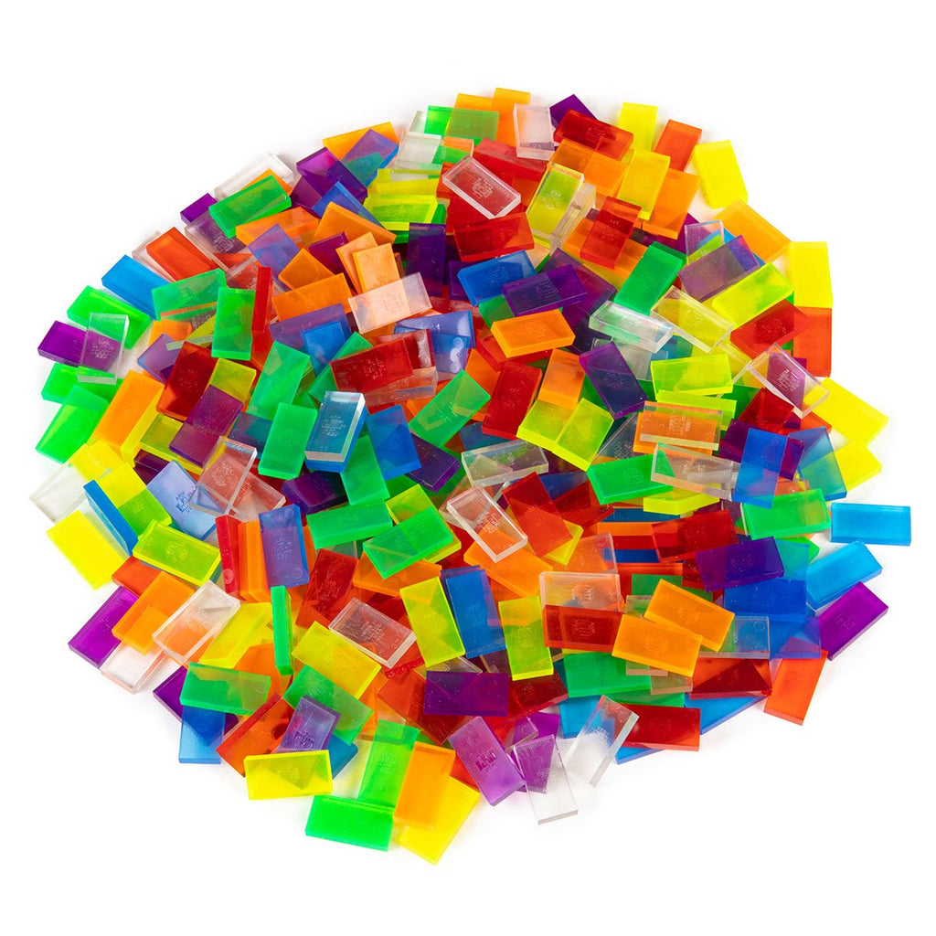 Bulk Dominoes - Mini Clear Assorted