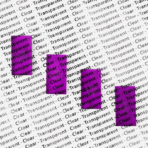Image of Bulk Dominoes - Clear Purple
