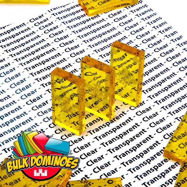 Bulk Dominoes - Clear Honey
