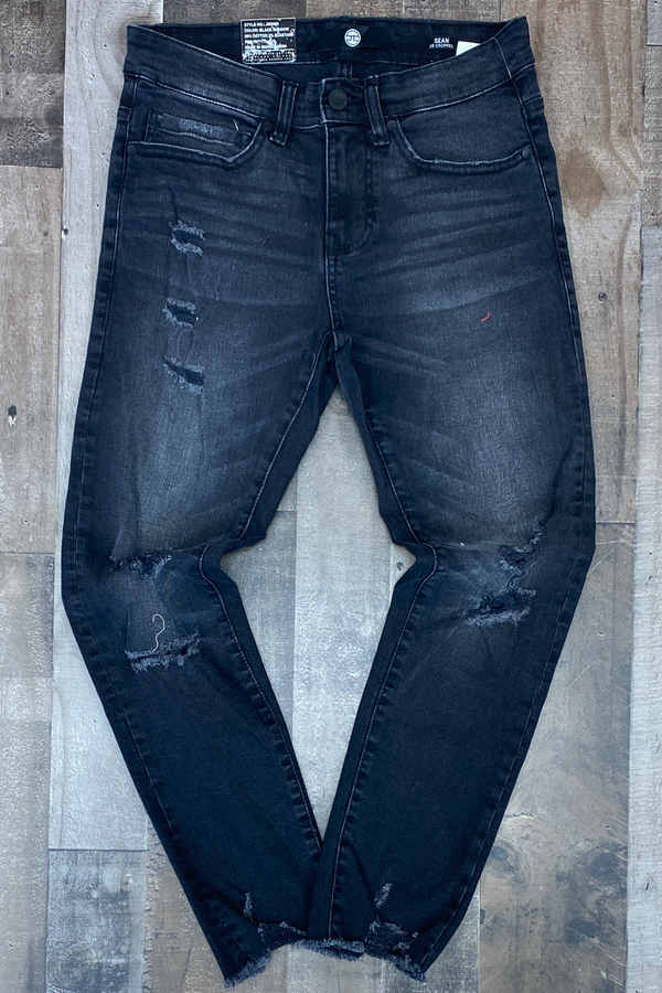 Jordan Craig- destroyed bottom jeans (black)