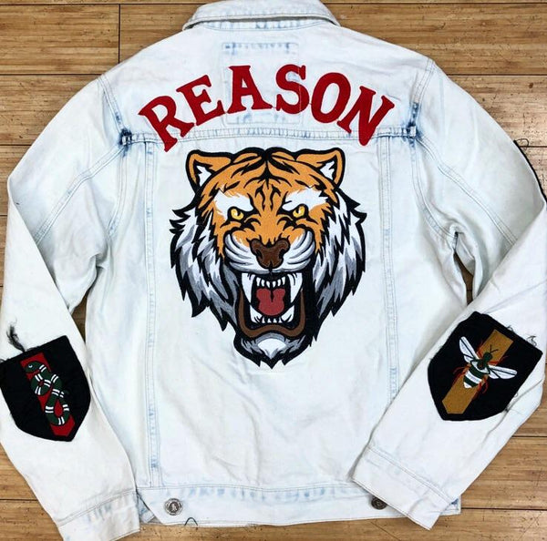 Reason- patched jean jacket