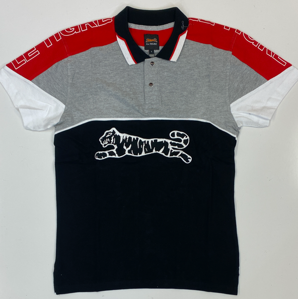 Le Tigre- color patch polo ss tee