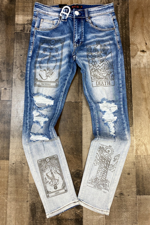 Gala- blue graphic jeans