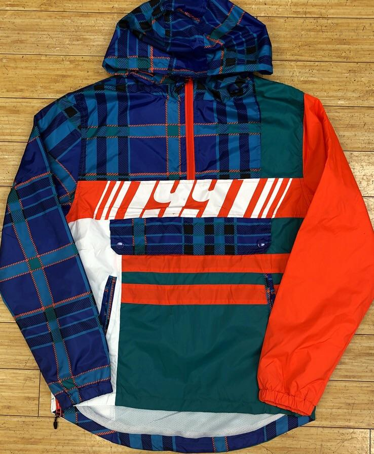 Smoke rise- plaid windbreaker